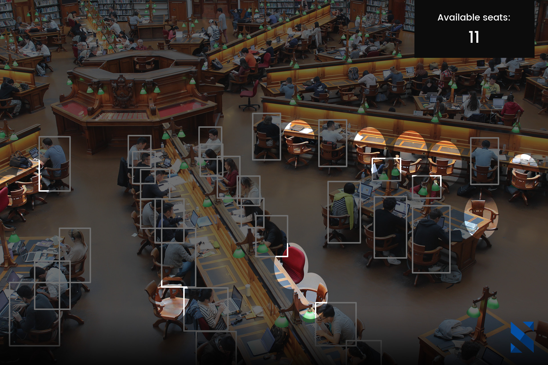 use case smart management analytics, detection of people presence and available seats